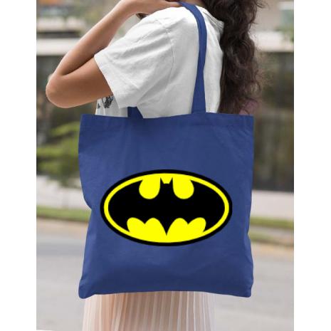 Sacosa din panza Batman Albastru regal