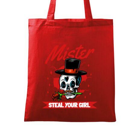 Sacosa din panza Mr. steal your girl Rosu