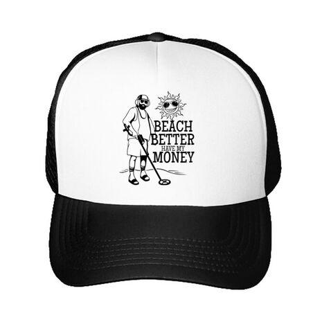 Sapca personalizata Beach better have my money Alb