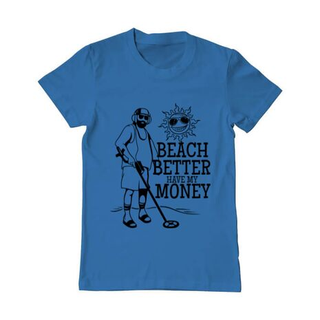Tricou ADLER barbat Beach better have my money Albastru azuriu
