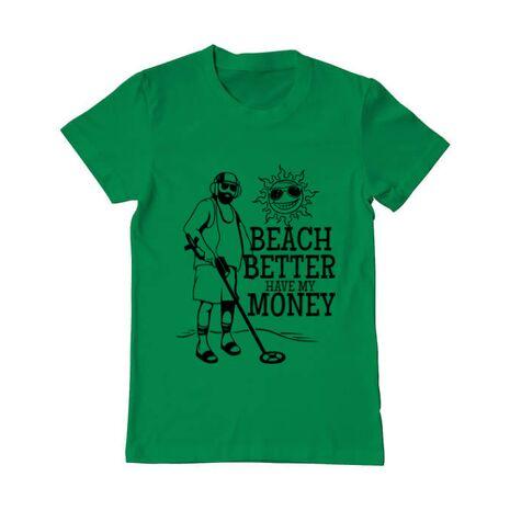 Tricou ADLER barbat Beach better have my money Verde mediu