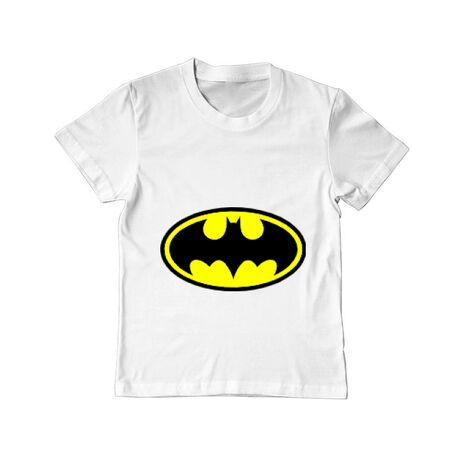 Tricou ADLER copil Batman Alb