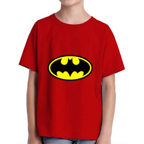 Tricou ADLER copil Batman Rosu