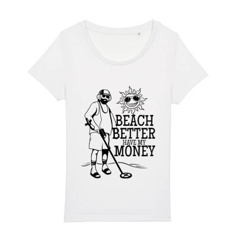 Tricou STANLEY STELLA dama Beach better have my money Alb