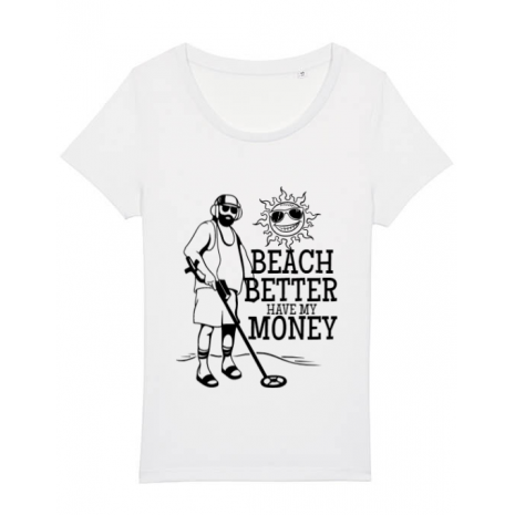 Tricou STANLEY STELLA dama Beach better have my money Alb