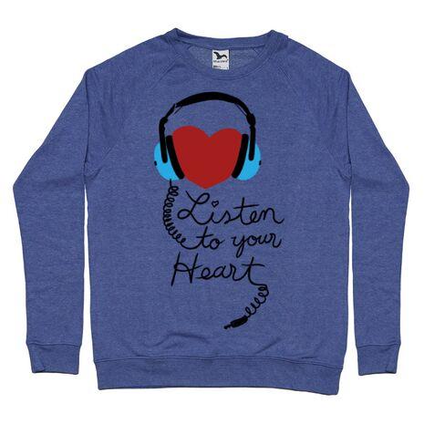 Bluza ADLER barbat Listen to your heart Albastru melanj