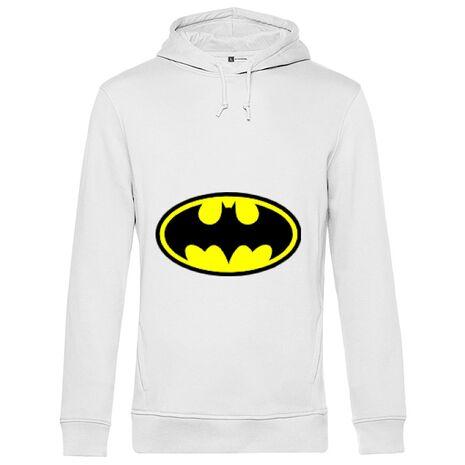 Hoodie barbat cu gluga Batman Alb
