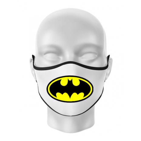 Masca personalizata reutilizabila Batman Alb