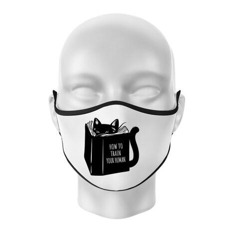 Masca personalizata reutilizabila How to train your human Alb
