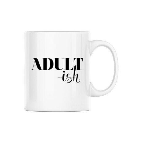Cana personalizata Adultish Alb