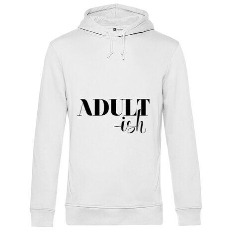 Hoodie barbat cu gluga Adultish Alb