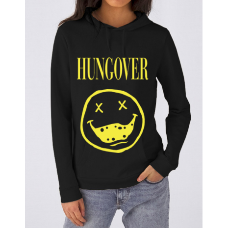 Hoodie dama cu gluga Hungover Negru