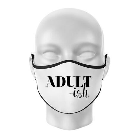 Masca personalizata reutilizabila Adultish Alb