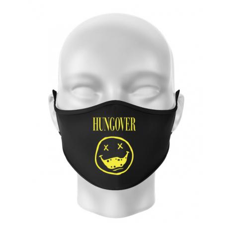Masca personalizata reutilizabila Hungover Negru