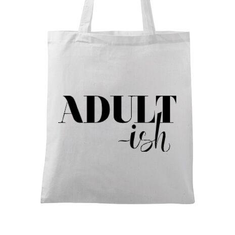 Sacosa din panza Adultish Alb