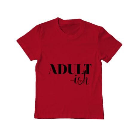 Tricou ADLER copil Adultish Rosu