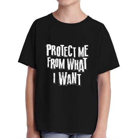 Tricou ADLER copil Protect me Negru