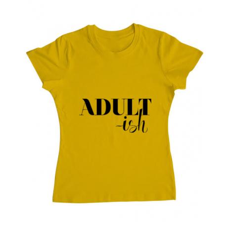 Tricou ADLER dama Adultish Galben