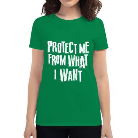 Tricou ADLER dama Protect me Verde mediu
