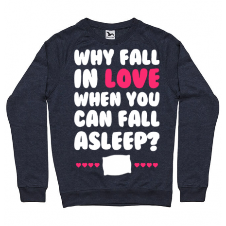Bluza ADLER barbat Why fall in love Denim inchis