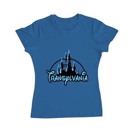 Tricou ADLER dama Transylvania Albastru azuriu