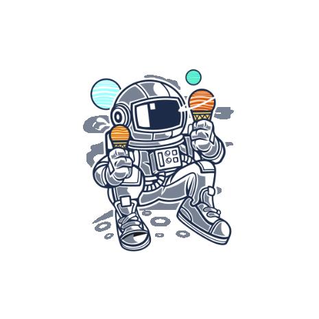 Tricou Astronaut Ice Cream