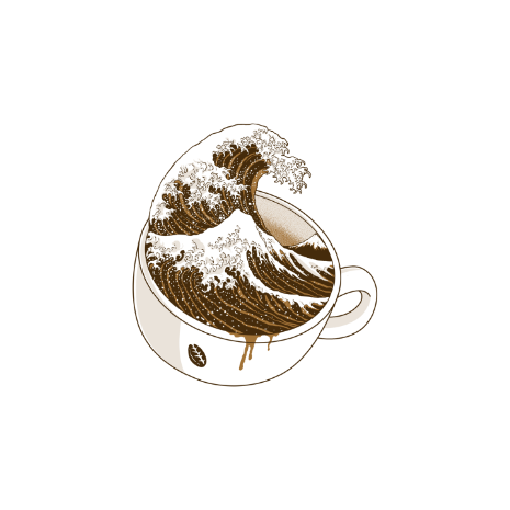 Tricou The Great Wave off Coffee
