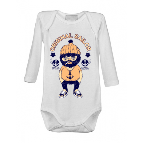 Baby body Original sailor Alb