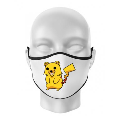Masca personalizata reutilizabila Pika Pika Alb