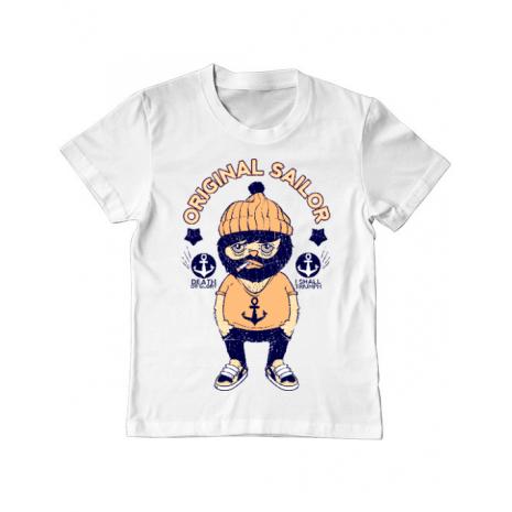 Tricou ADLER copil Original sailor Alb