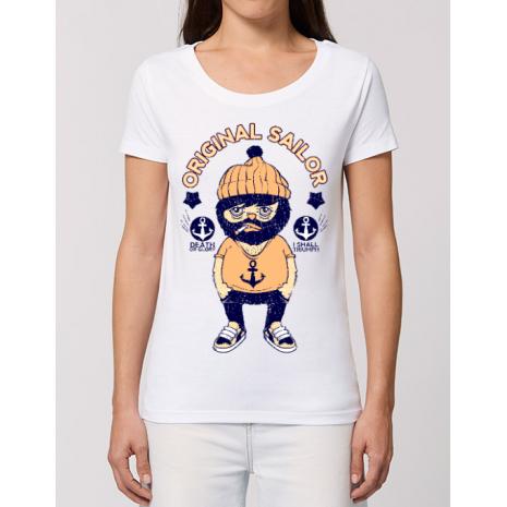 Tricou STANLEY STELLA dama Original sailor Alb