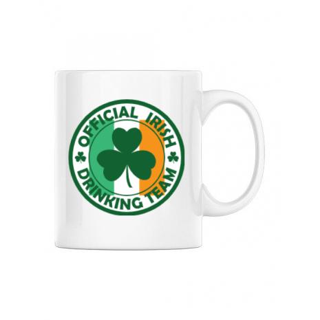 Cana personalizata Irish Drinking Team Alb