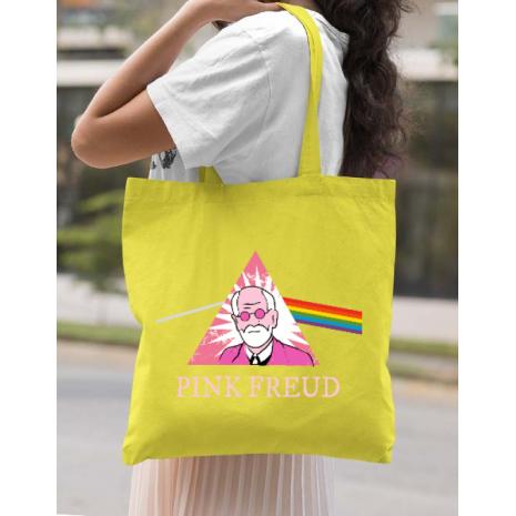 Sacosa din panza Pink Freud Galben
