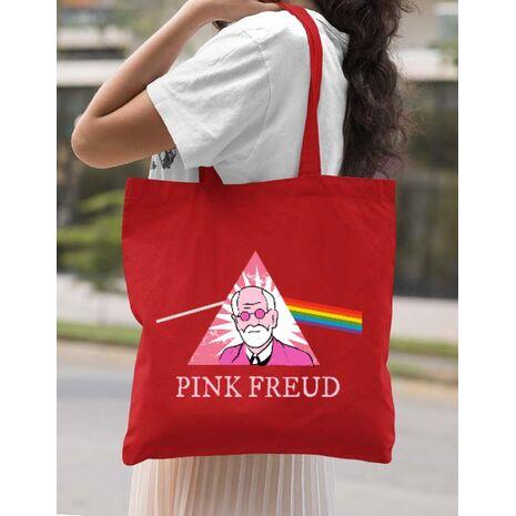 Sacosa din panza Pink Freud Rosu