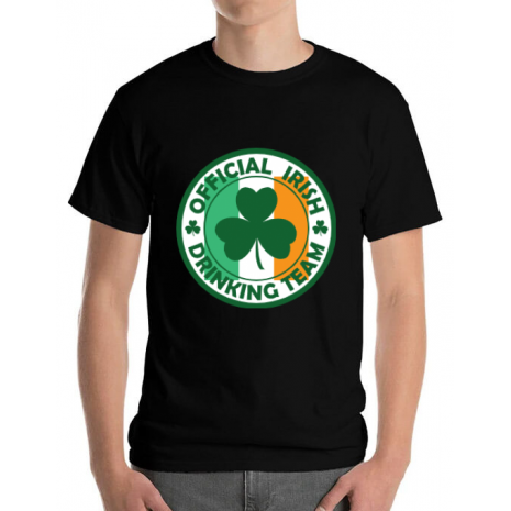 Tricou ADLER barbat Irish Drinking Team Negru