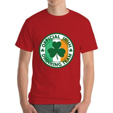 Tricou ADLER barbat Irish Drinking Team Rosu