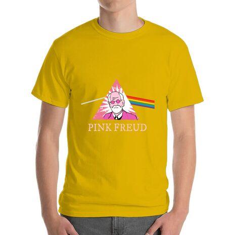 Tricou ADLER barbat Pink Freud Galben
