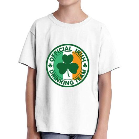 Tricou ADLER copil Irish Drinking Team Alb