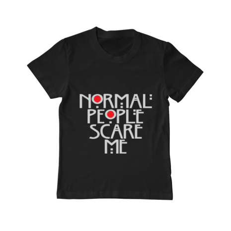 Tricou ADLER copil Normal people scare me Negru