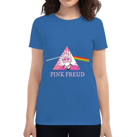 Tricou ADLER dama Pink Freud Albastru azuriu