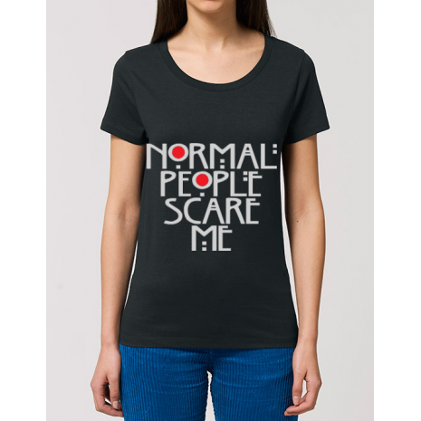 Tricou STANLEY STELLA dama Normal people scare me Negru