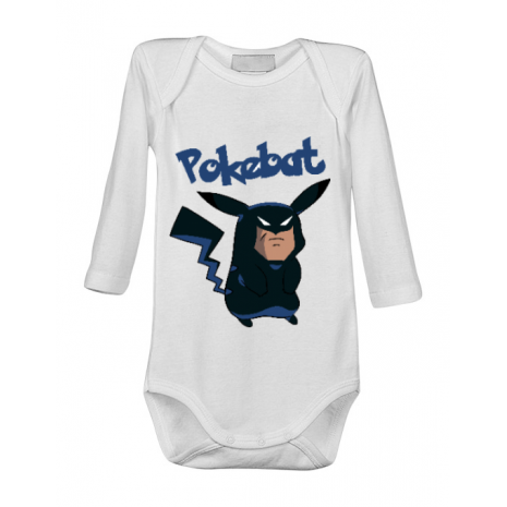 Baby body Pokebat Alb