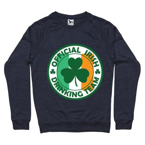 Bluza ADLER barbat Irish Drinking Team Denim inchis