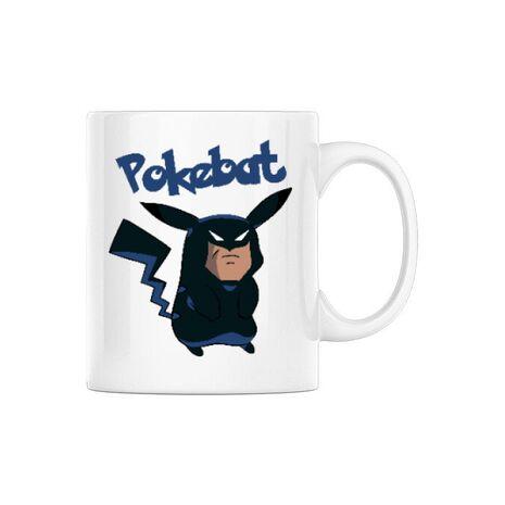 Cana personalizata Pokebat Alb