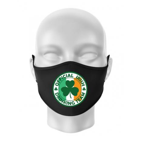Masca personalizata reutilizabila Irish Drinking Team Negru