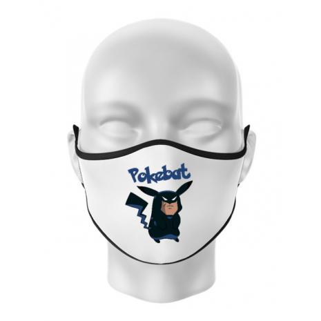 Masca personalizata reutilizabila Pokebat Alb