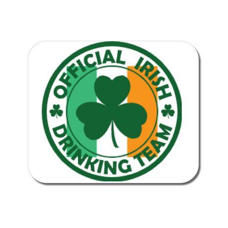 Mousepad personalizat Irish Drinking Team Alb