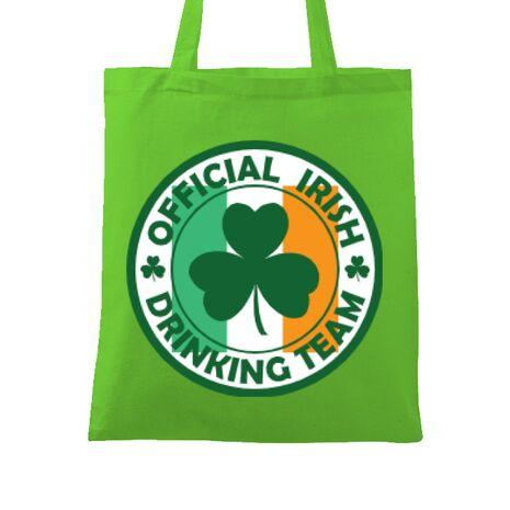 Sacosa din panza Irish Drinking Team Verde mar