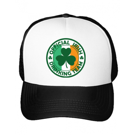 Sapca personalizata Irish Drinking Team Alb
