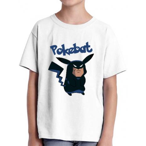Tricou ADLER copil Pokebat Alb